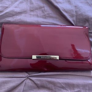 Handbags - Patent leather Guess envelope clutch bag